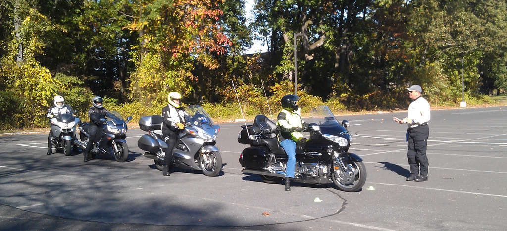 Tom Wright leads a course for Central Jersey Rider Training. Riders who take the course can skip N.J.´s road test and get insurance discounts.