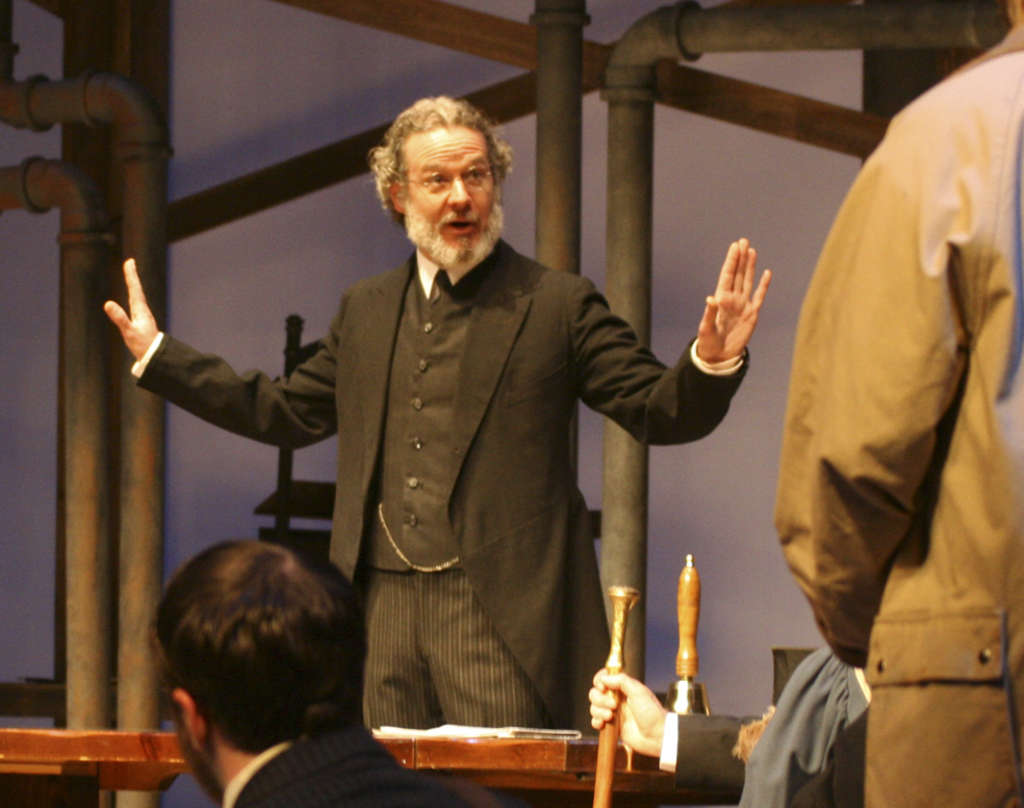 "Kevin Bergen as Dr. Thomas Stockman in Ibsen´s ""An Enemy of the People"" at Bristol Riverside Theatre."