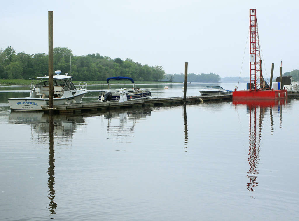Surrounded by water, Delanco has seen its population rising with the addition of commuter train service.