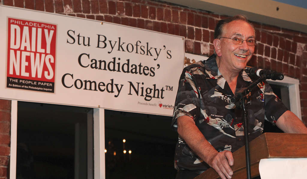 STEVEN M. FALK / STAFF PHOTOGRAPHER Your favorite columnist says this will be the last comedy night.