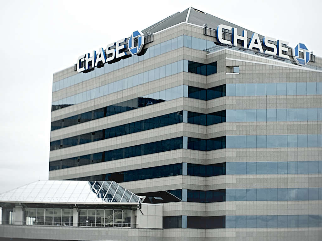 JPMorgan Chase in Wilmington. The company knows how you spend your dollars.