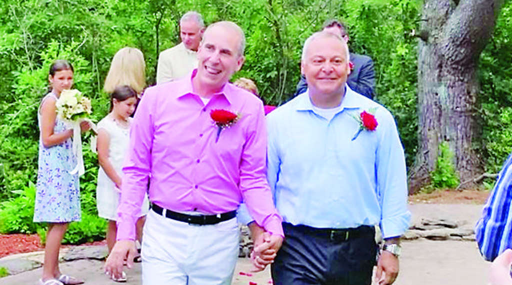 """COURTESY SABA FAMILY Francis Saba (left) and Victor Rivera married last year, but didn´t feel like """"part of the actual fabric of America"""" until yesterday."""