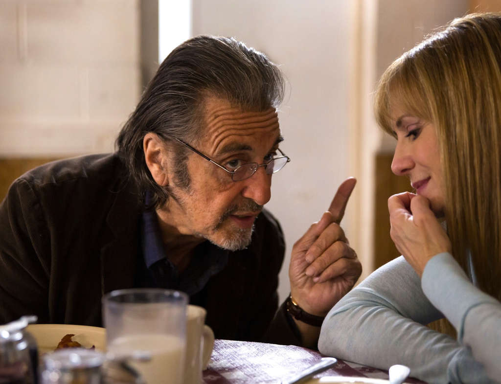 Al Pacino is the sad-sack Manglehorn and Holly Hunter is Dawn, the chirpy bank clerk who goes on a date with him.