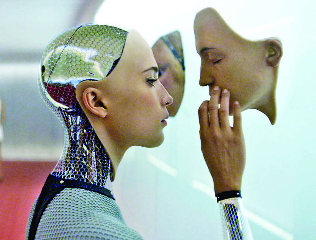 "Alicia Vikander plays a cyber-creature in ""Ex Machina."""