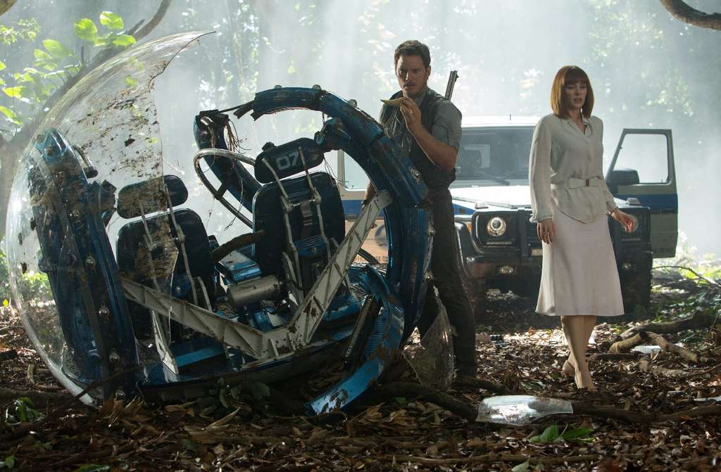 "Chris Pratt and Bryce Dallas Howard in ""Jurassic World,"" already the fifth-top-grossing film ever."
