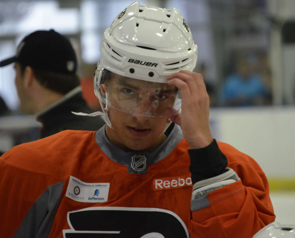 DAVID MAIALETTI / STAFF PHOTOGRAPHER Ivan Provorov might someday contend for the Kharlamov Trophy, named after Bobby Clarke´s old pal.