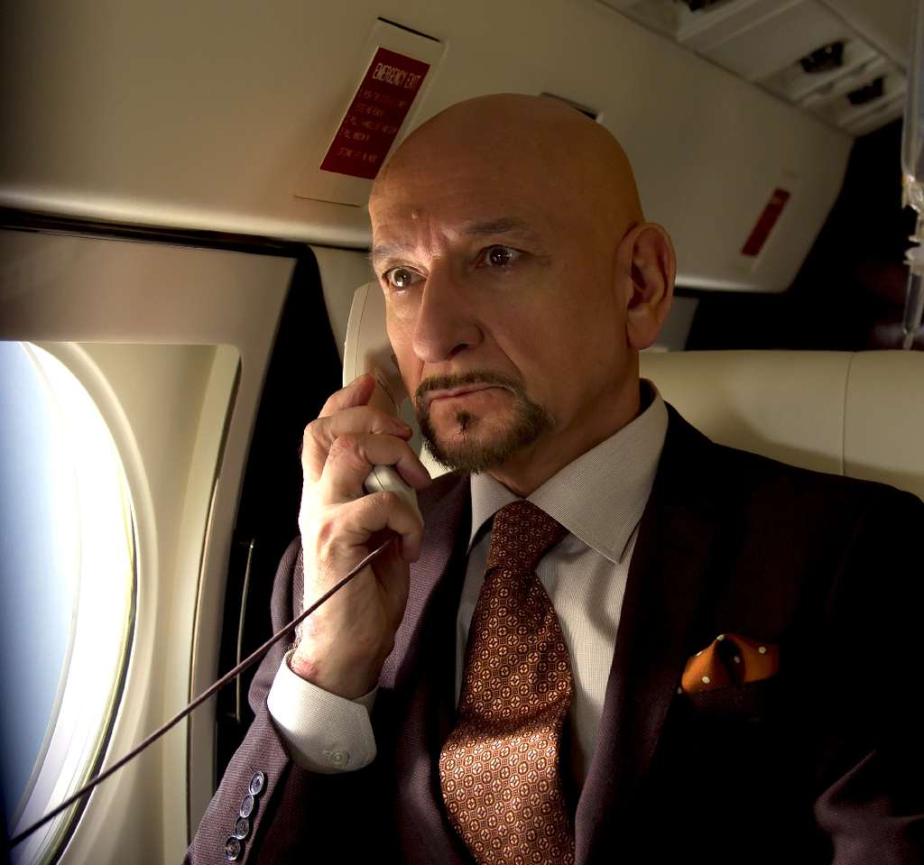Ben Kingsley plays the kabillionaire who gets his ego transplanted.