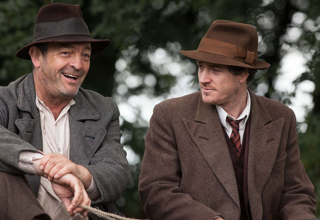 """The Irish saga """"Jimmy´s Hall"""" stars Barry Ward ( right) as the title character, with Francis Magee. (Photo: Sony Pictures Classics)"""