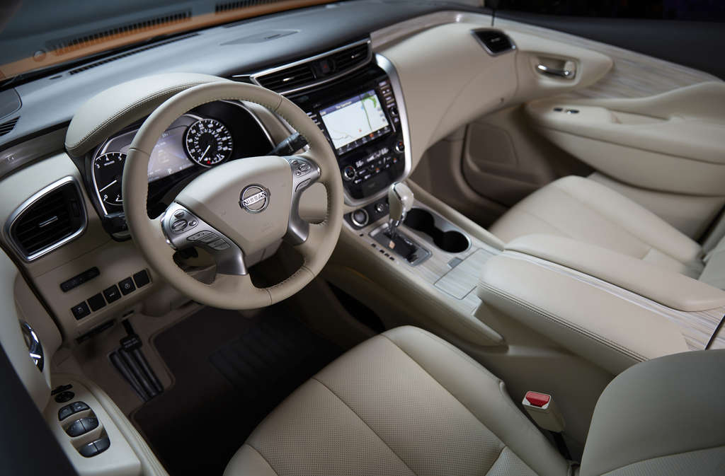 Inside the Murano is well-appointed and luxurious, at least in high-price versions.