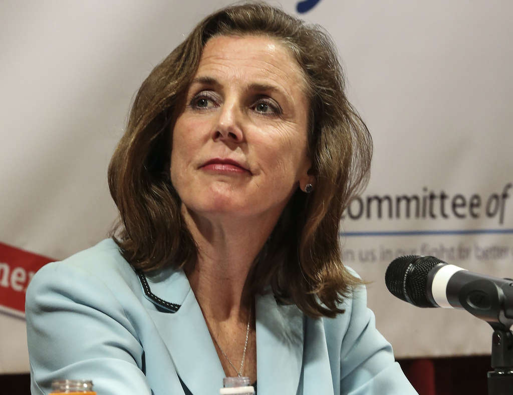"STEVEN M. FALK / STAFF PHOTOGRAPHER Katie McGinty, Gov. Wolf´s chief of staff, is ""seriously seriously considering"" a U.S. Senate run."