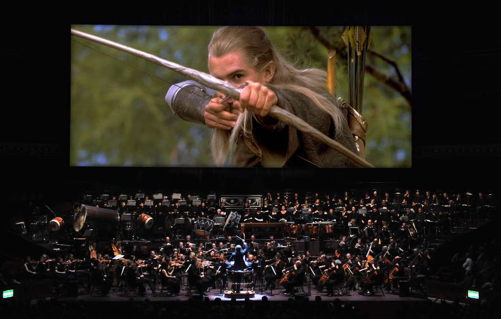 """The Fellowship of the Ring"" will be accompanied live Thursday by the Philadelphia Orchestra and Mendelssohn Club at the Mann. A performance of the Howard Shore music (above) in 2009 at Radio City Music Hall."