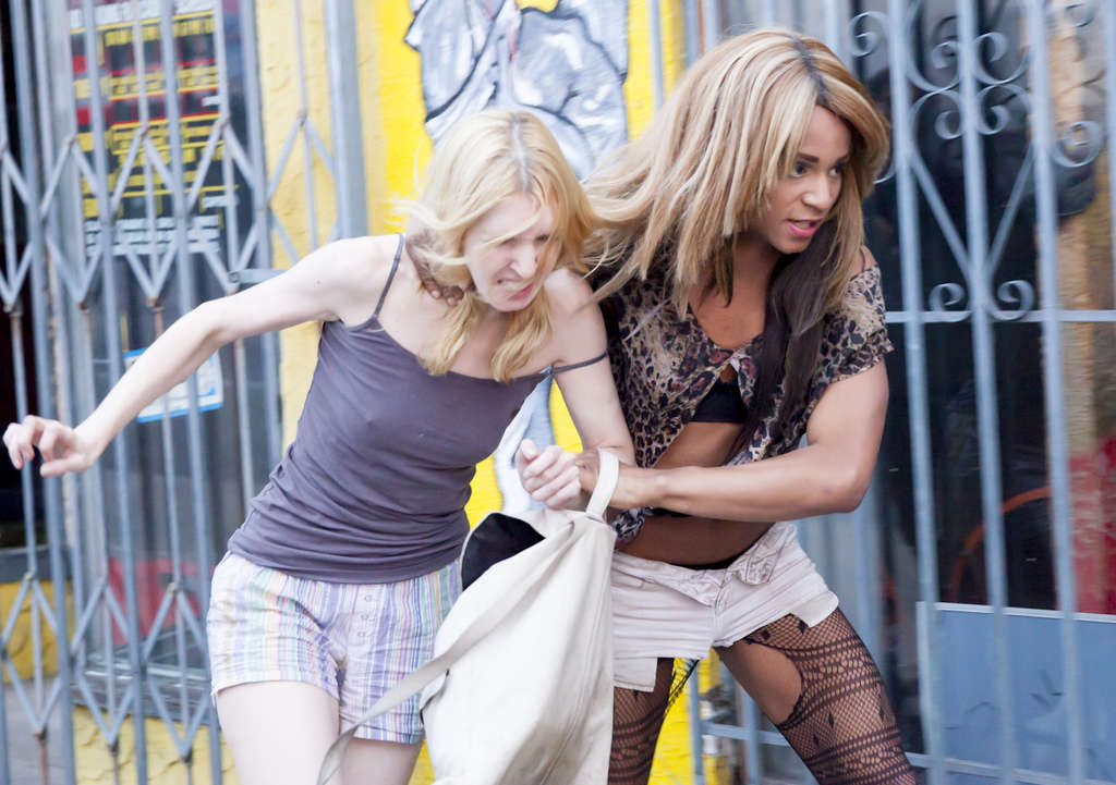 """""""Tangerine,"""" about transgender sex workers, with Mickey O´Hagan (left) and Kitana Kiki Rodriguez."""