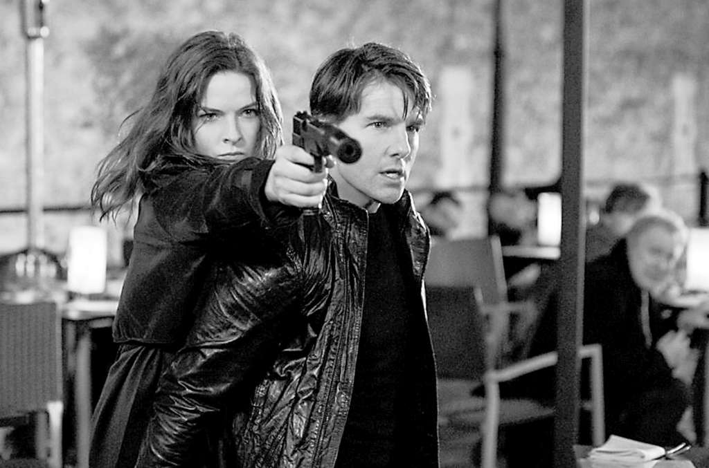 "Double agents: Rebecca Ferguson and Tom Cruise as world-spanning spies in ""Mission: Impossible - Rogue Nation."""