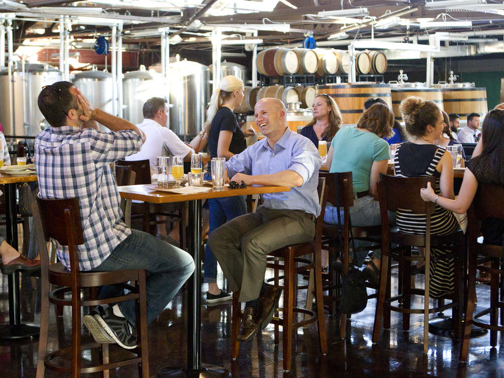 Housed in a former trolley repair garage, Tired Hands´ second Ardmore brewery is spacious enough to fit 200 beer nerds.
