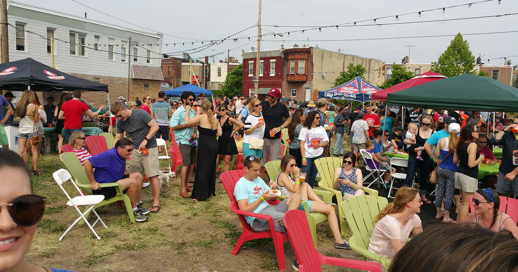This pop-up beer garden on Point Breeze Avenue has been well attended and appears to be successful, but critics have tried to shut it down.