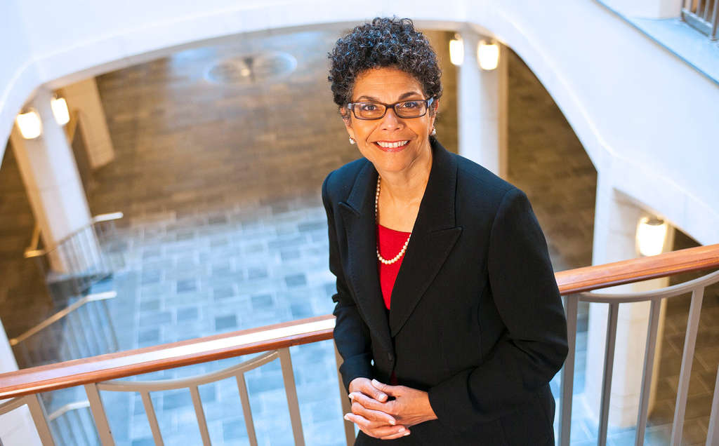 Phoebe A. Haddon began her second year as chancellor Rutgers-Camden in July. She oversees a campus with 6,500 students, 1,100 employees, $173 million budget.