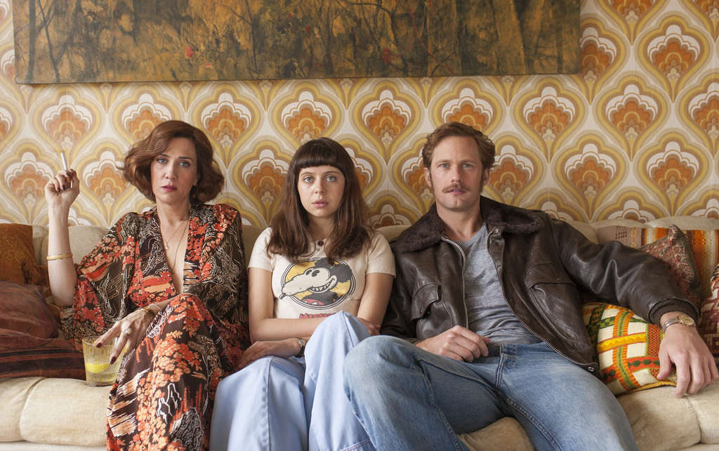 "Love the one you´re with: (from left) Kristen Wiig, Bel Powley, and Alexander Skarsgård in ""The Diary of a Teenage Girl."""