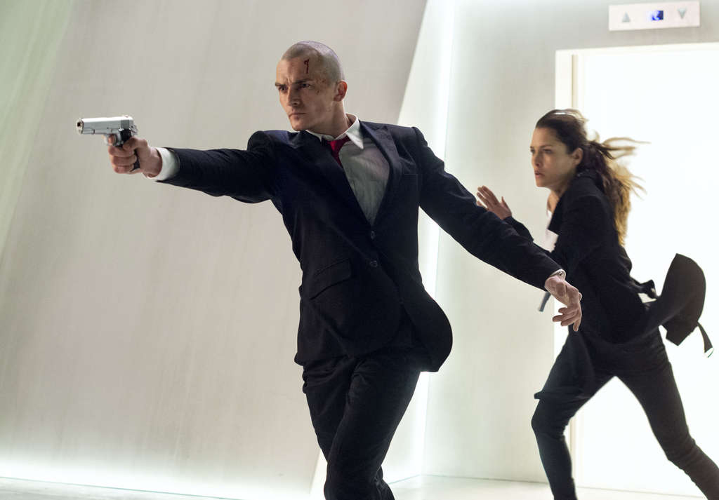 "The game is on: Rupert Friend and Hannah Ware in a ""Hitman: Agent 47,"" a film adaptation of the video game."