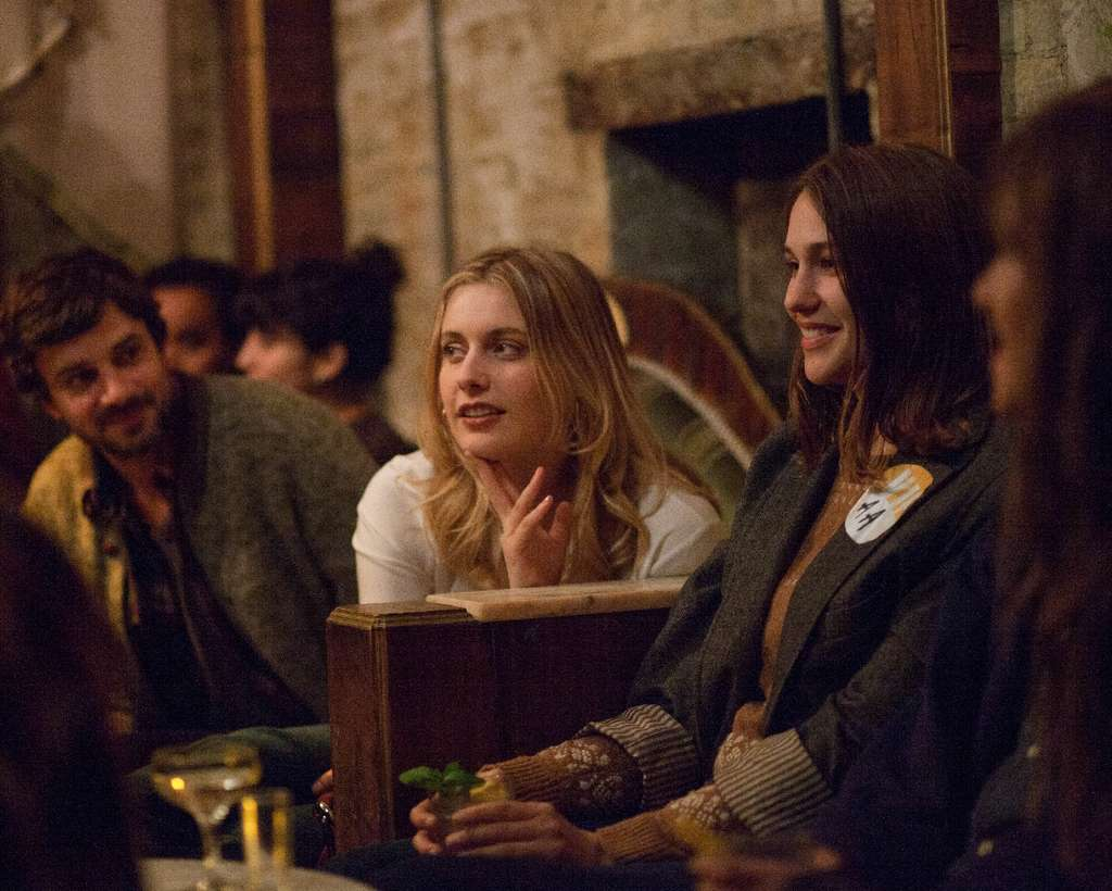 "First, we take Manhattan: Greta Gerwig (left) and Lola Kirke out on the town in ""Mistress America."""