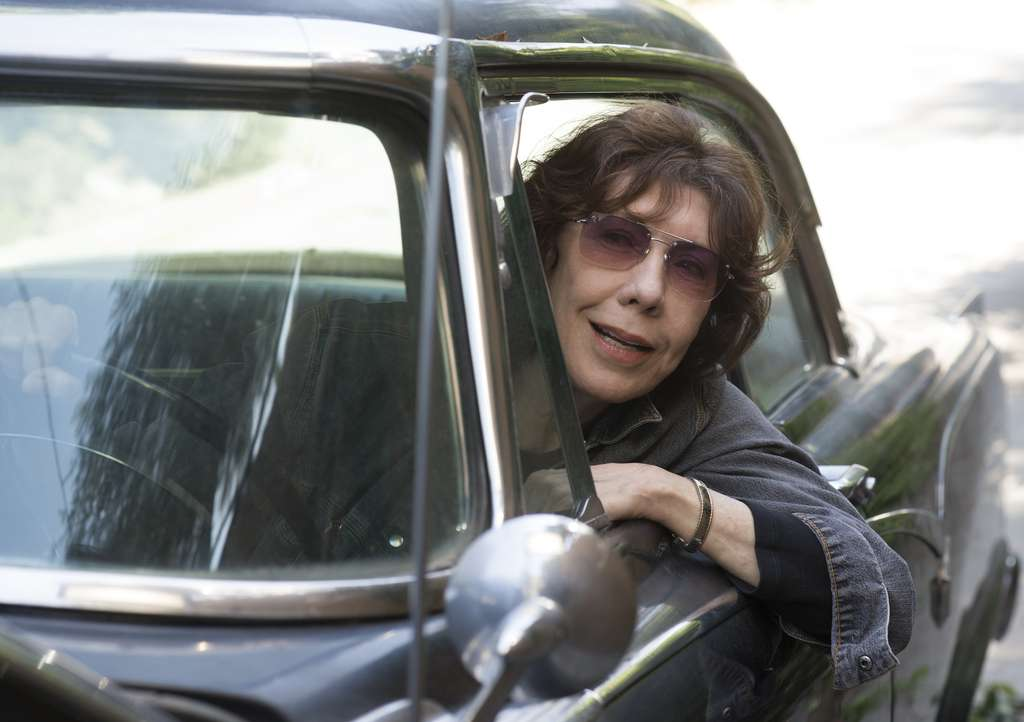 "Lily Tomlin stars as an unconventional grandmother in ""Grandma."""