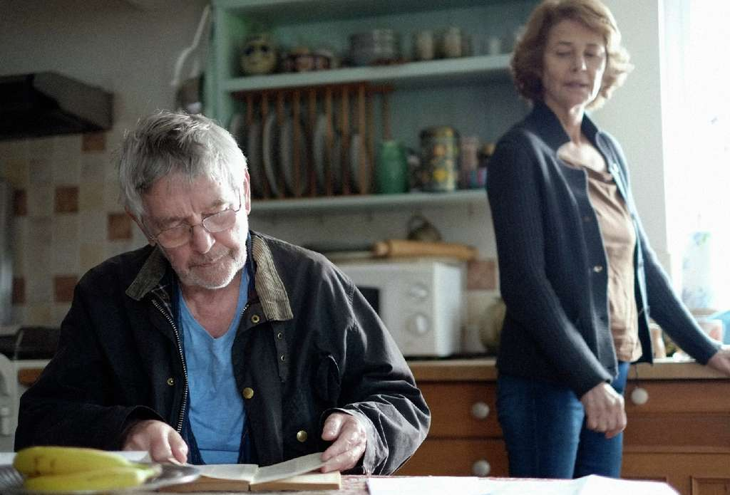 "Tom Courtenay and Charlotte Rampling are a couple whose marriage is shaken in ""45 Years."""