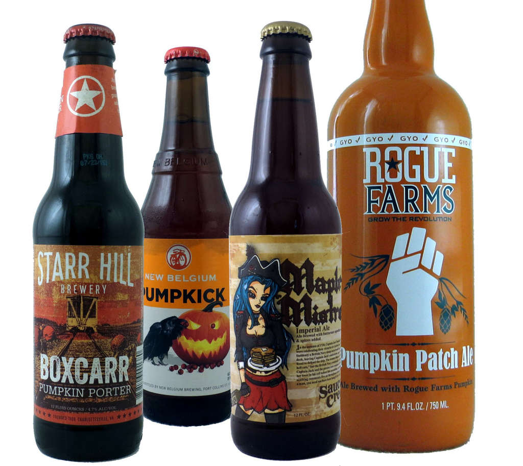 Pumpkin-flavored beers come in a variety of tastes.