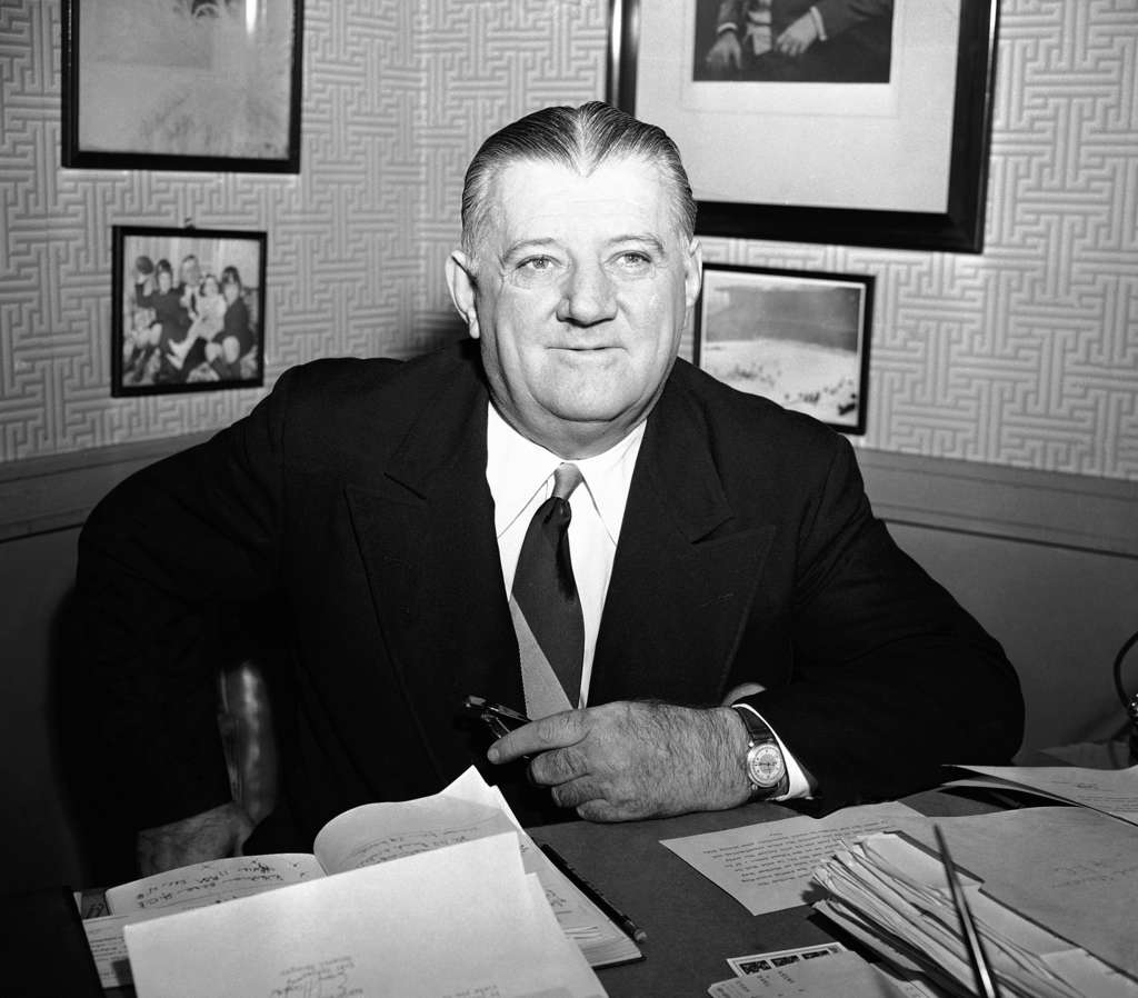 Bert Bell, here in 1949, ran the NFL from 1946 until his death in 1959 out of offices in the city and then Bala Cynwyd. The league´s headquarters are now in New York.