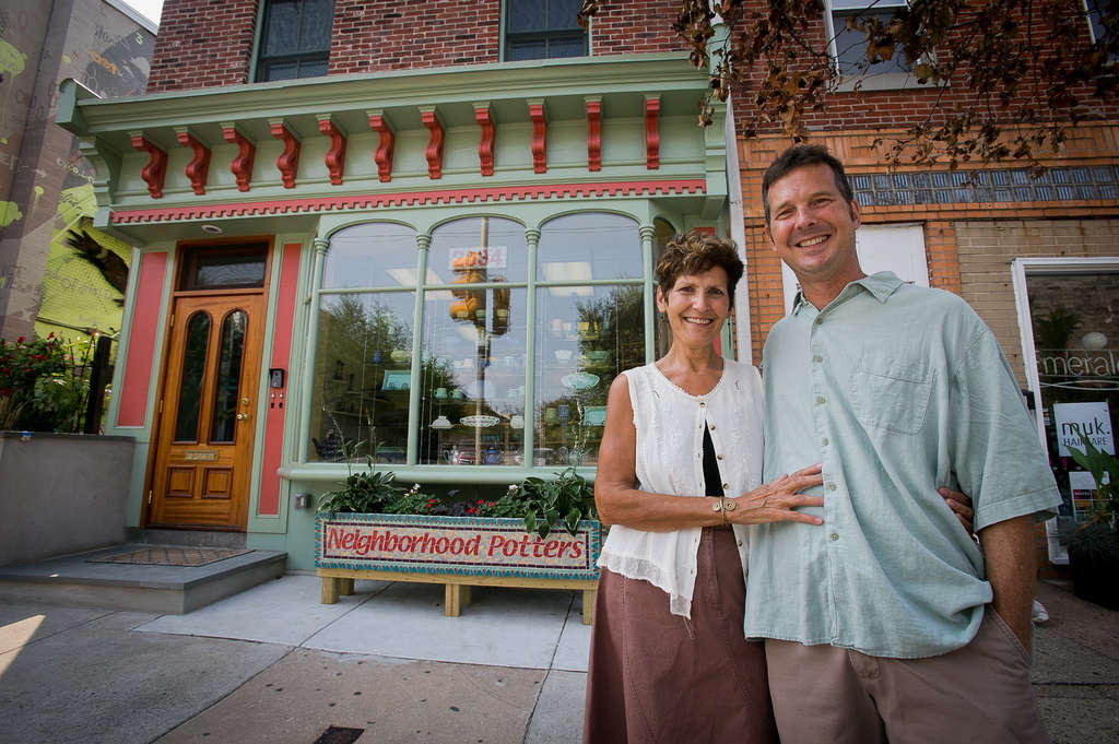 Sandi Pierantozzi and Neil Patterson bought 2034 Fairmount Avenue in 2000 for $40,000. Since their arrival, Fairmount has experienced a steady influx of businesses.