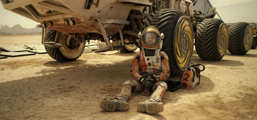 "Matt Damon plays a NASA astronaut stranded on Mars - similar to his pivotal, uncredited role in ""Interstellar."""