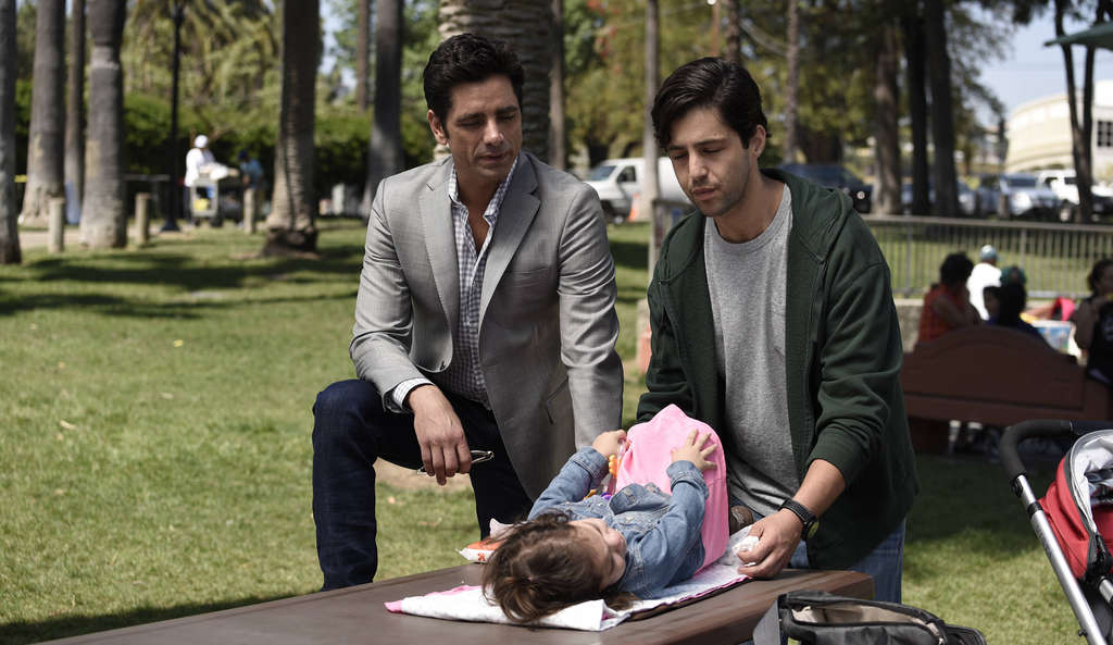 """John Stamos (left) and Josh Peck star in """"Grandfathered."""""""