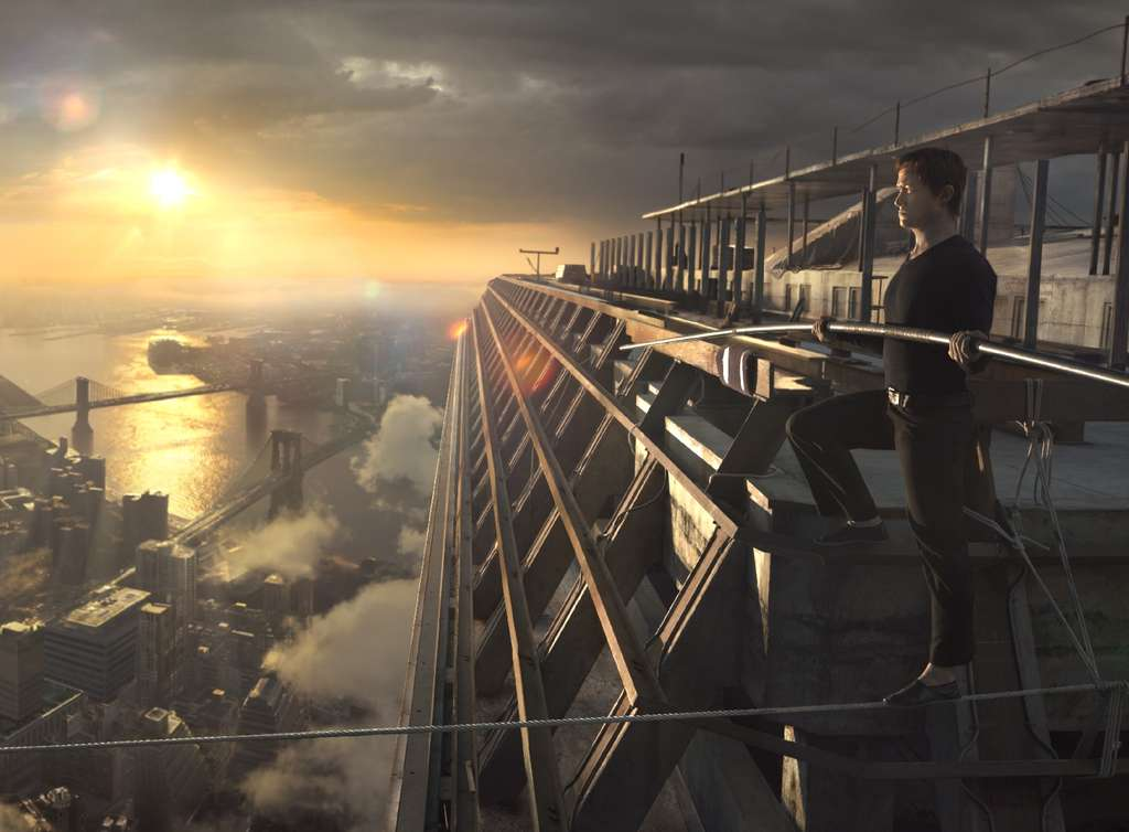 "Joseph Gordon-Levitt plays death-defying high-wire aerialist Philippe Petit in Robert Zemeckis´ ""The Walk."""