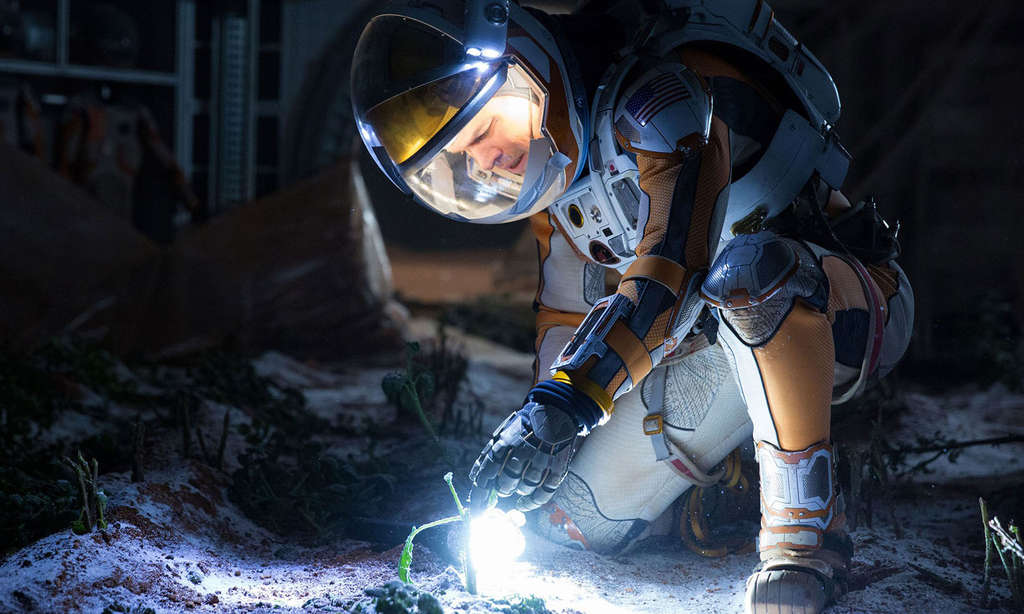 "In ""The Martian,"" Matt Damon faces dismal odds after his crew leaves him behind on the Red Planet."