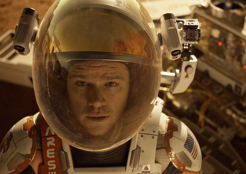 "In ""The Martian,"" Matt Damon is an astronaut accidentally stranded on the Red Planet."