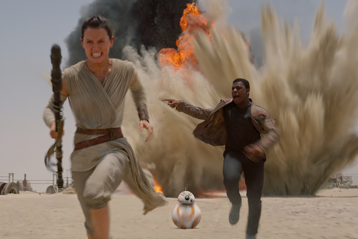 "A scene from the highly-anticipated ""Star Wars: The Force Awakens."""