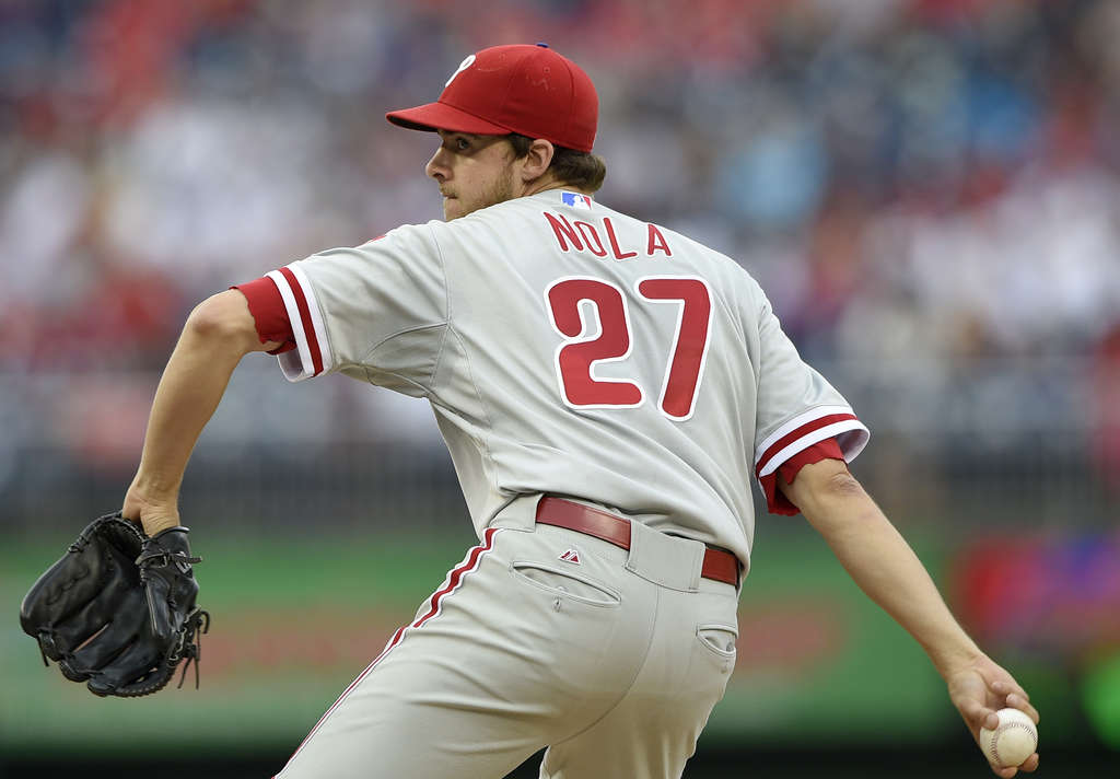 ASSOCIATED PRESS Aaron Nola has shown he can be a legitimate No. 1 starter.