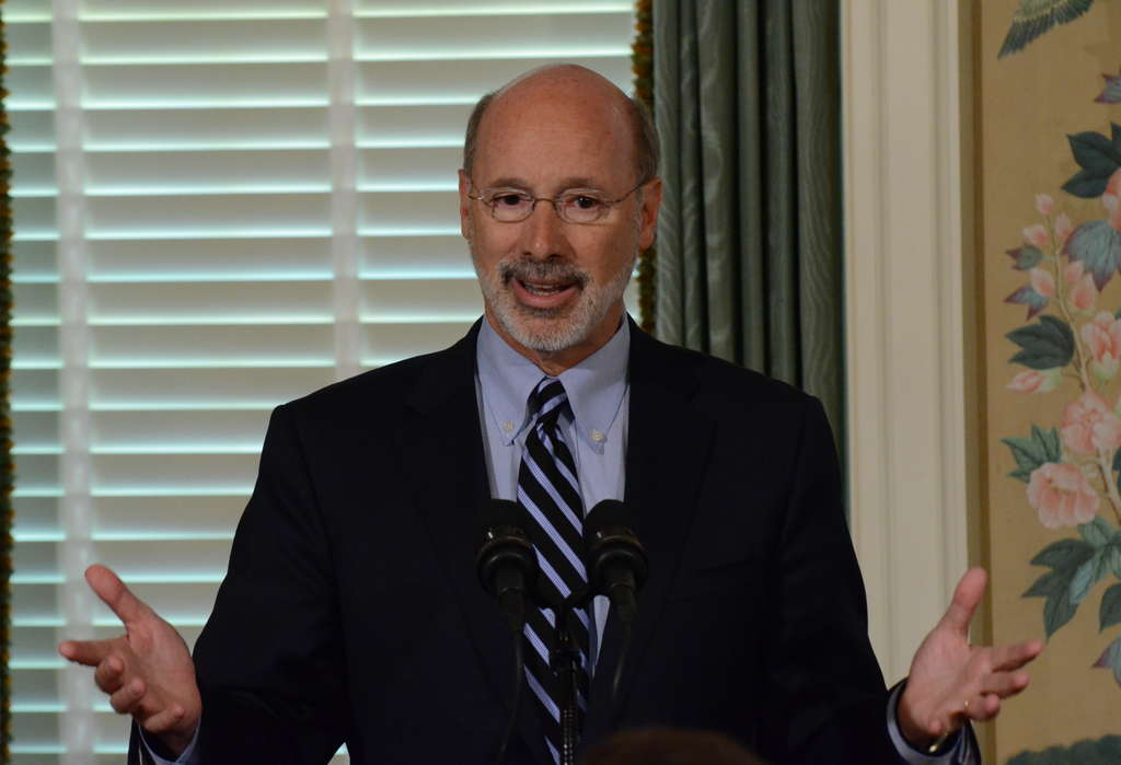 PHOTOS: ASSOCIATED PRESS The tax plan peddled by Gov. Wolf could soon be pedaled off, a la Pee Wee Herman´s bike.