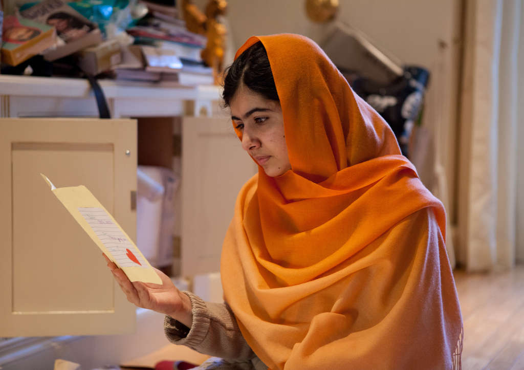 "Malala Yousafzai, subject of the documentary ""He Named Me Malala."""