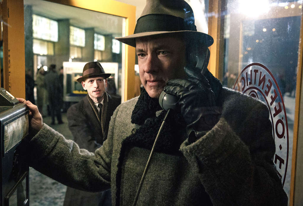 "Tom Hanks in ""Bridge of Spies,"" director Steven Spielberg´s first spy film, one of his favorite genres."