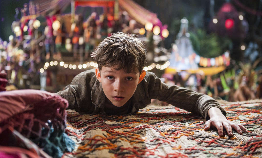 """Peter (Levi Miller) seems stunned to hear that not just profits but break-even have flown away to Neverland, as the much-panned """"Pan"""" found that most theaters over the weekend had become islands of lost audiences."""