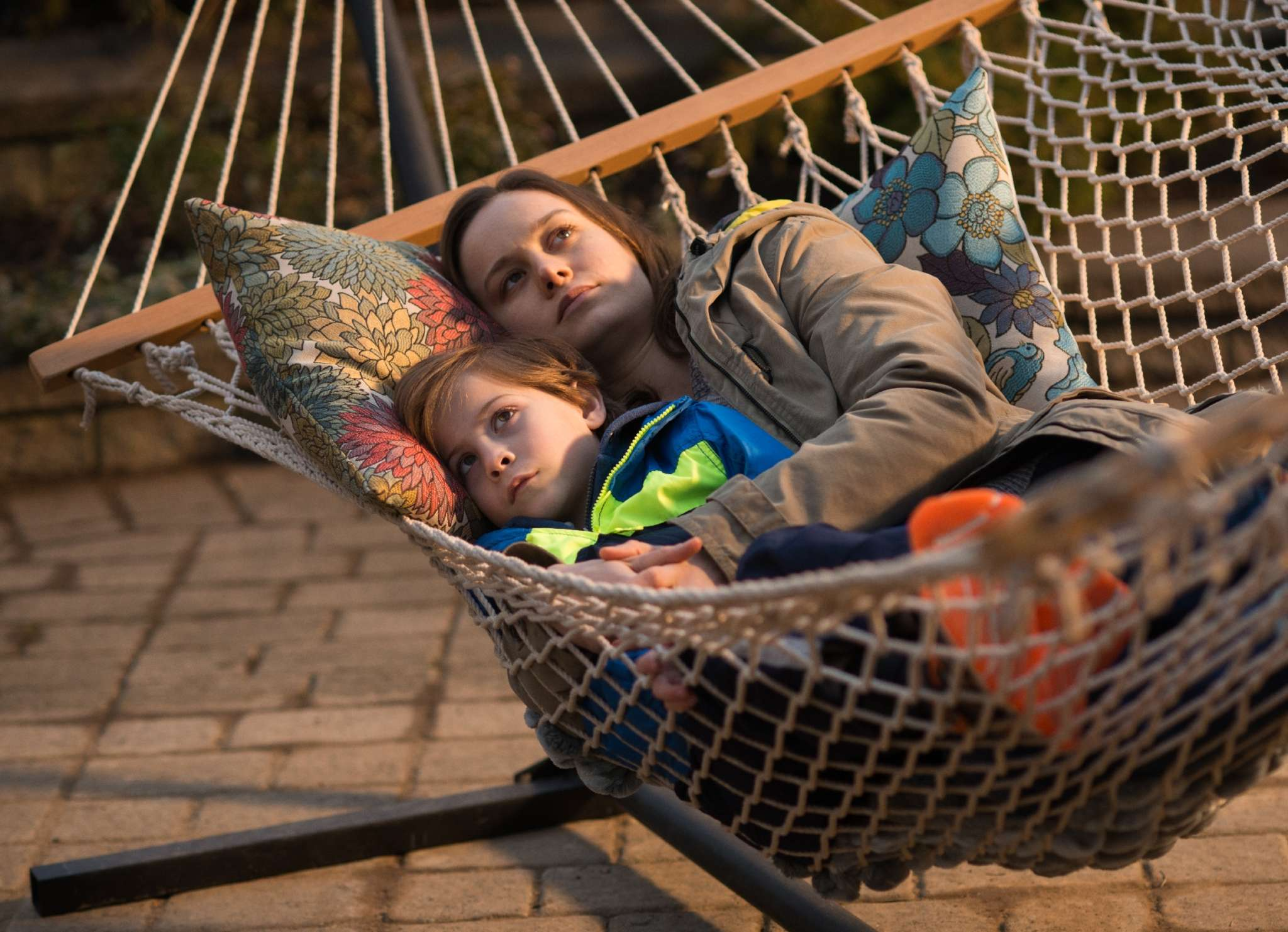 """Room"" costars Brie Larson and Jacob Tremblay as mother and son imprisoned for the first half of the film in a tiny, ill-lighted shed. To research her role in the tense, suspenseful film, Larson and director Lenny Abrahamson consulted a trauma expert."