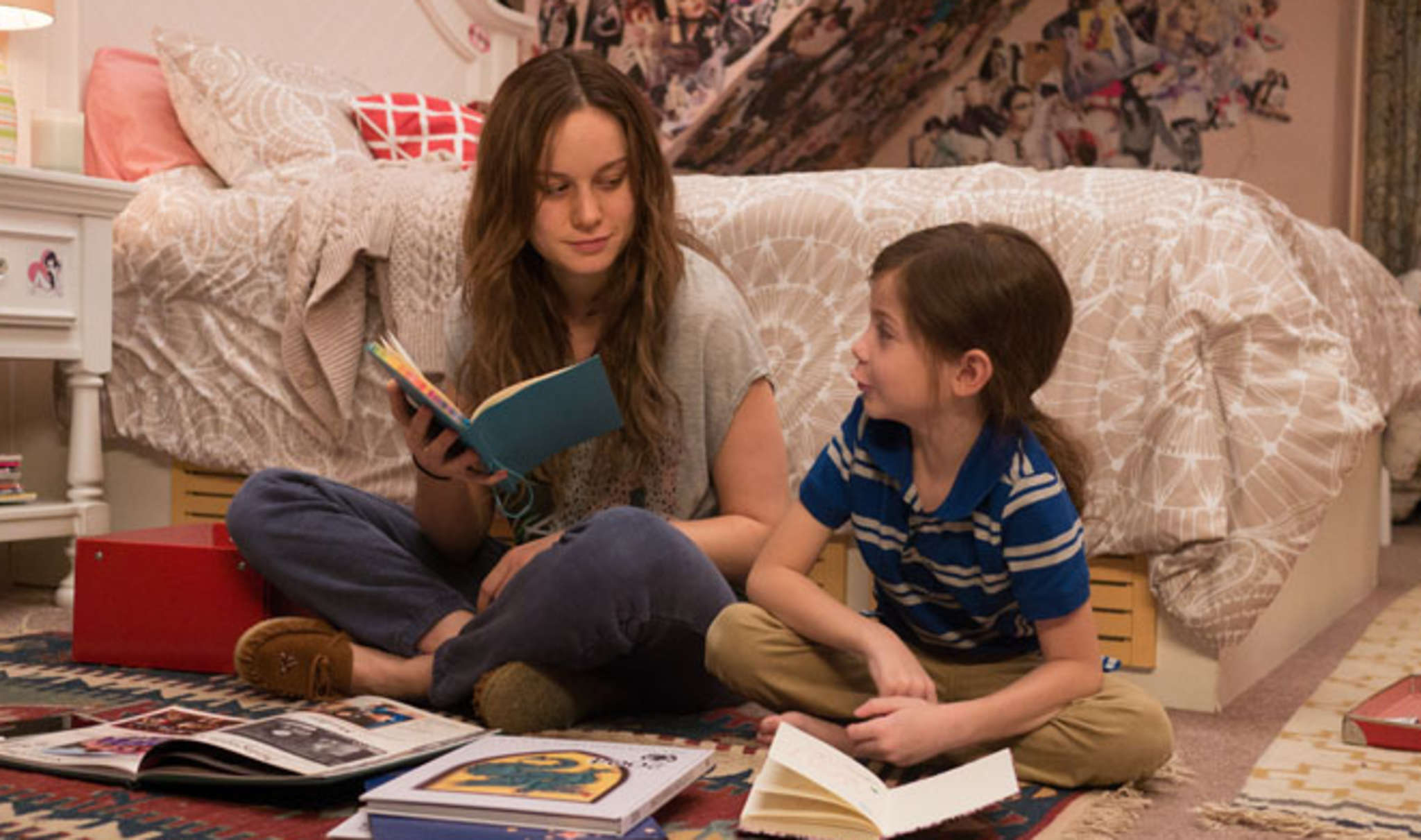 "Brie Larson and Jacob Tremblay live as hostages in ""Room."""