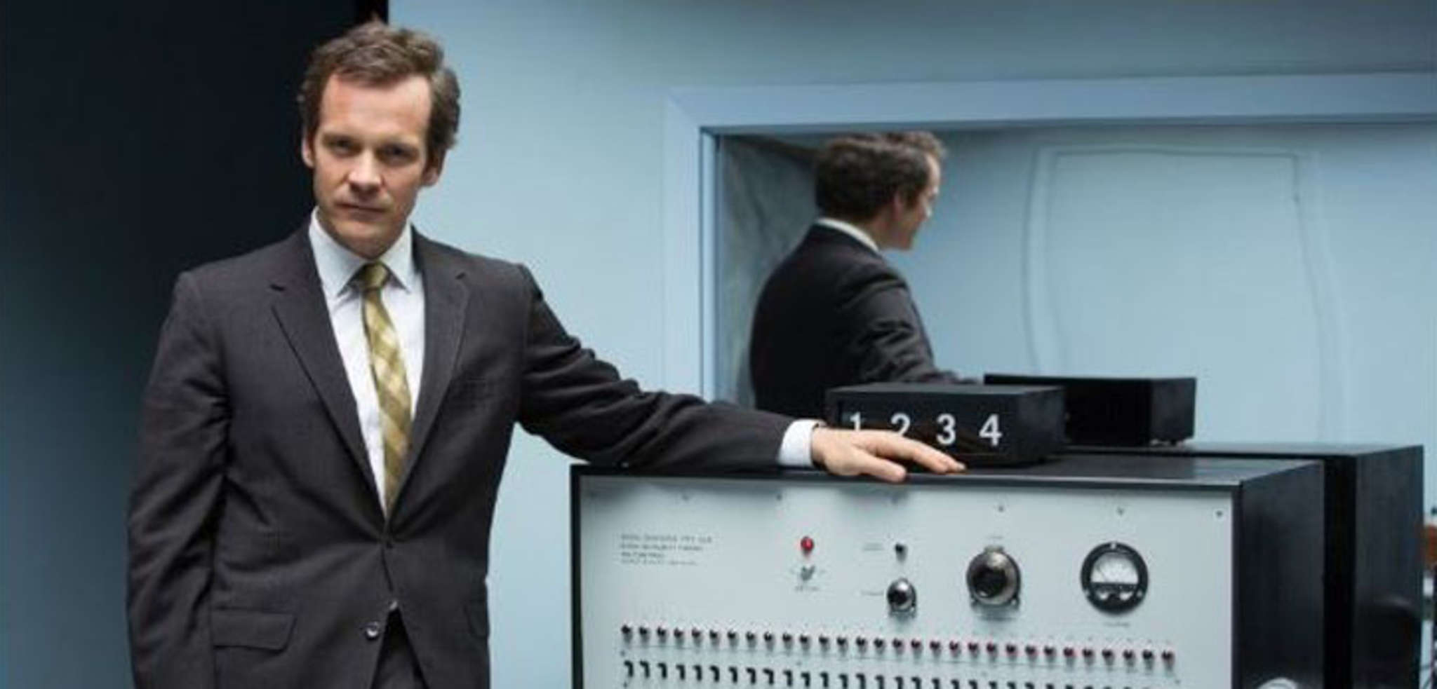 "Peter Sarsgaard is social psychologist Stanley Milgram in ""Experimenter."""