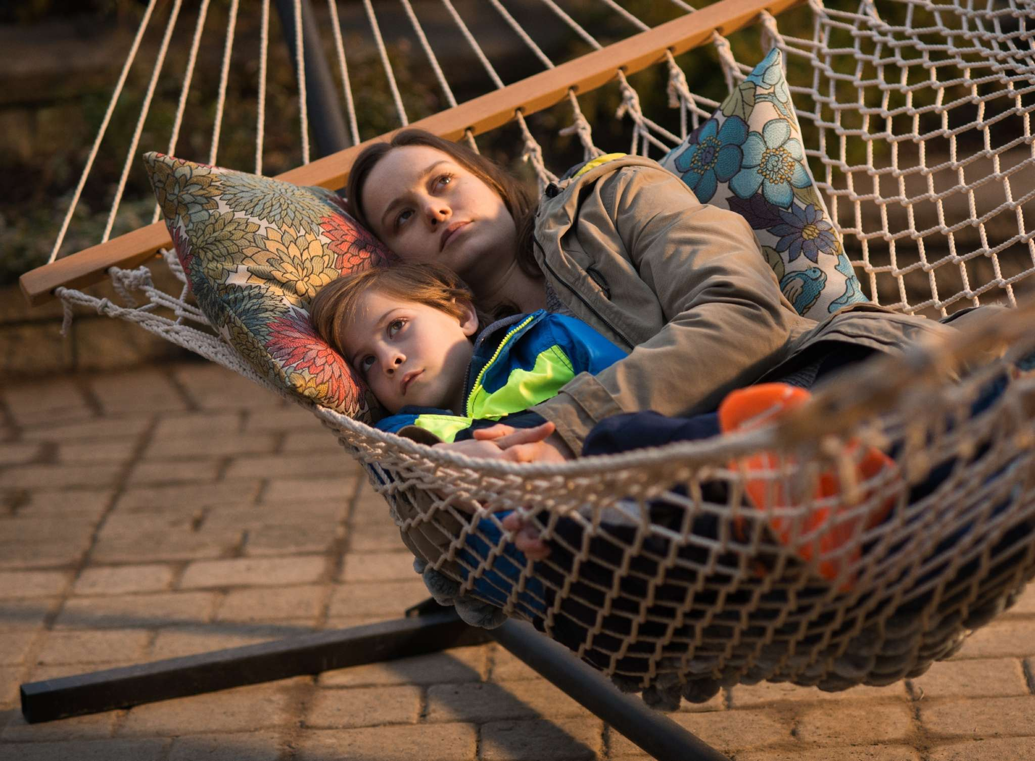 "Jacob Tremblay and Brie Larson play son and mother who have been imprisoned in ""Room."""