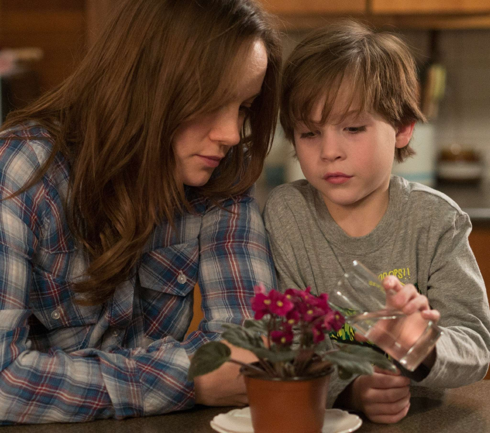 "Brie Larson and Jacob Tremblay are mother and son imprisoned in ""Room."""