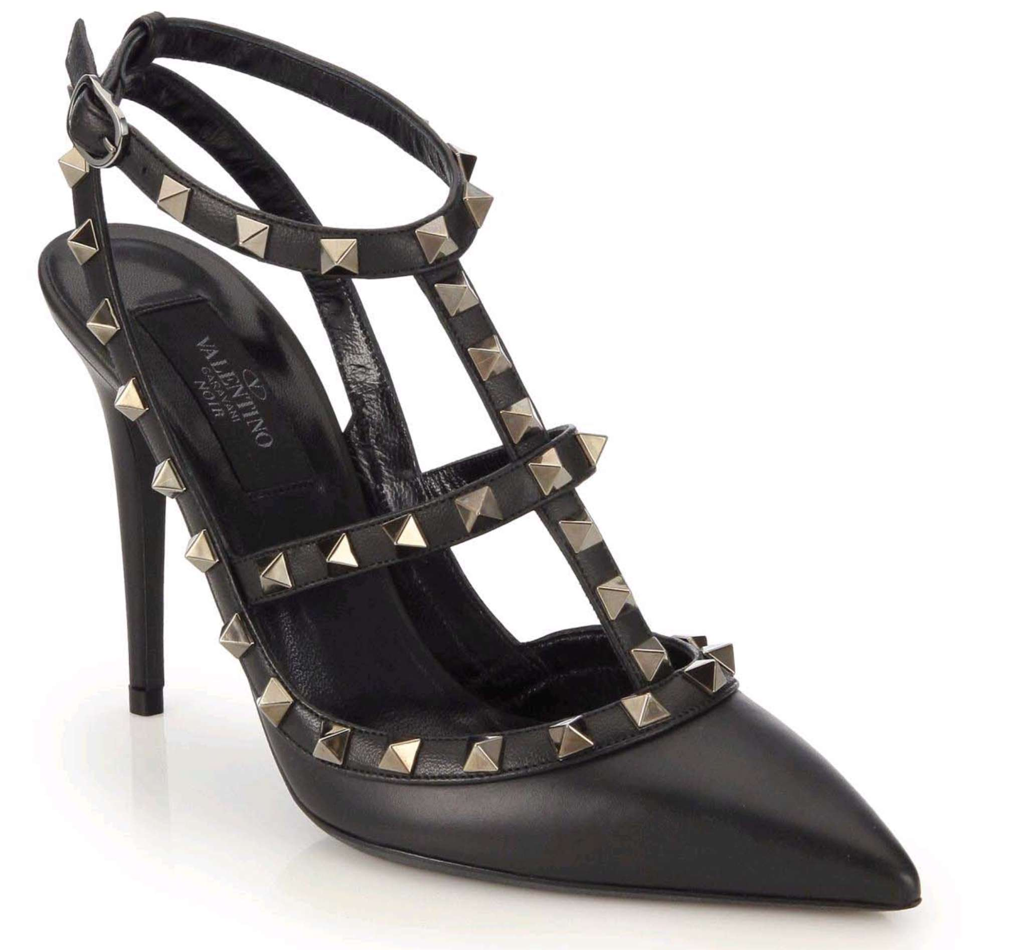 Since 2010, the Valentino Rockstud pump has been a high-fashion staple; $1,095.