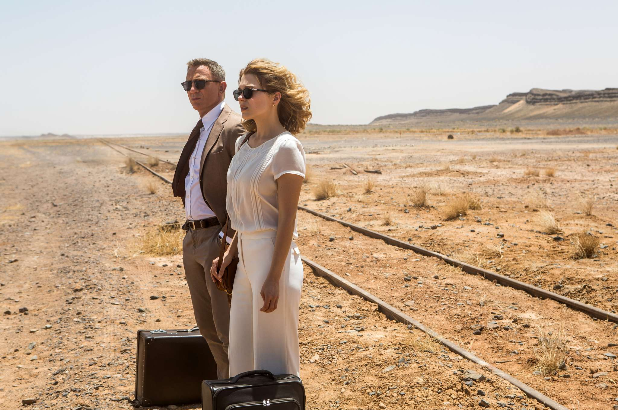 "The perfect Bond for the millennium: Daniel Craig as 007, with Léa Seydoux, in ""Spectre."""