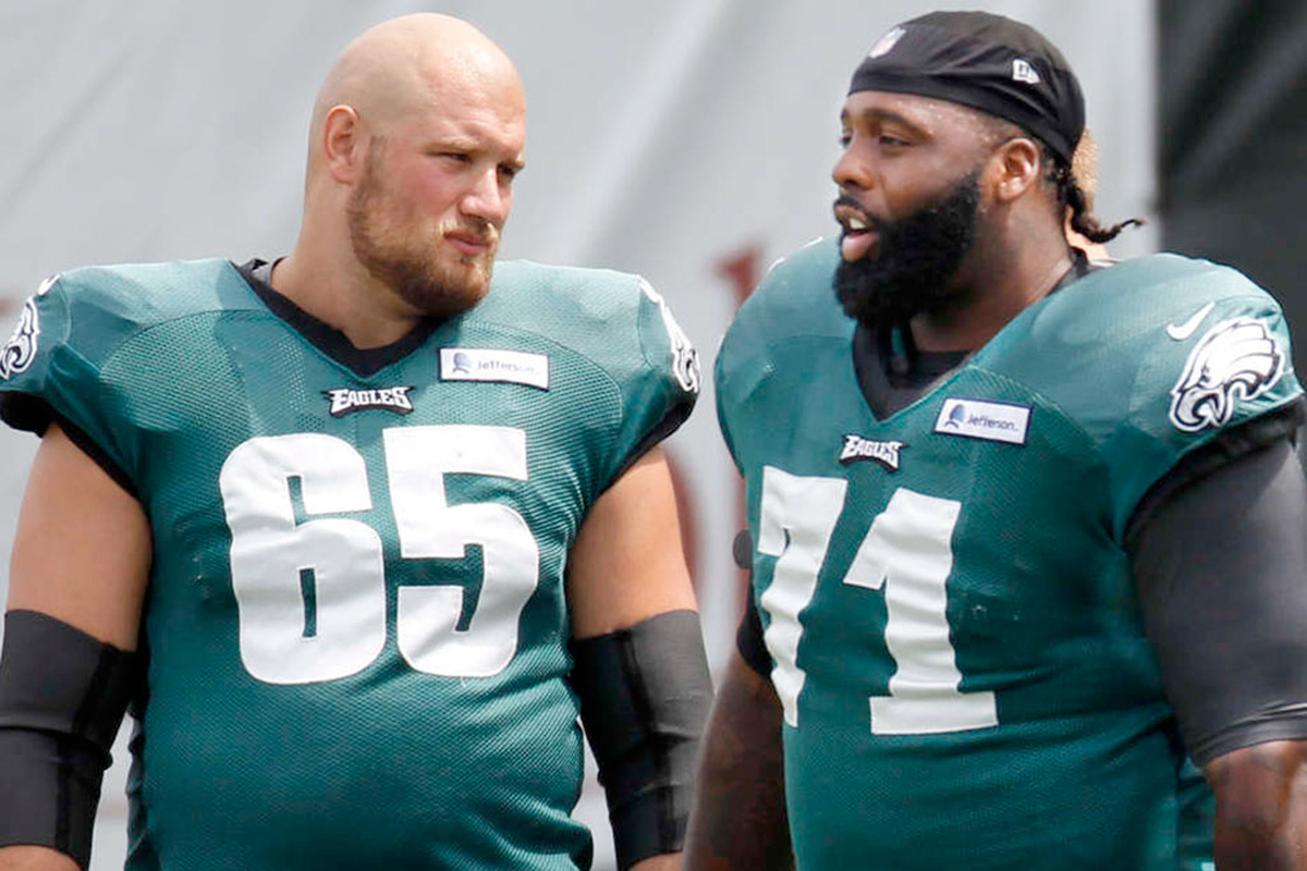 Jason Peters out vs Cowboys Lane Johnson expected to start at