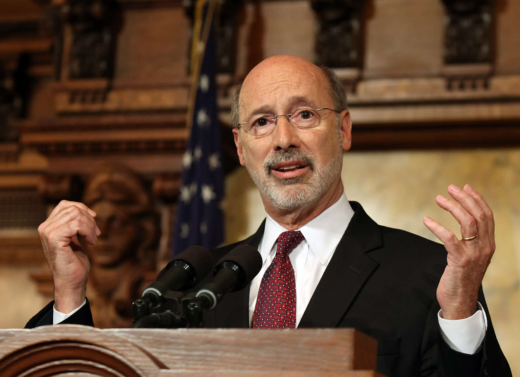CHRIS KNIGHT / ASSOCIATED PRESS Gov. Wolf has two choices for the state´s budget: finalize it or open up another protracted debate.