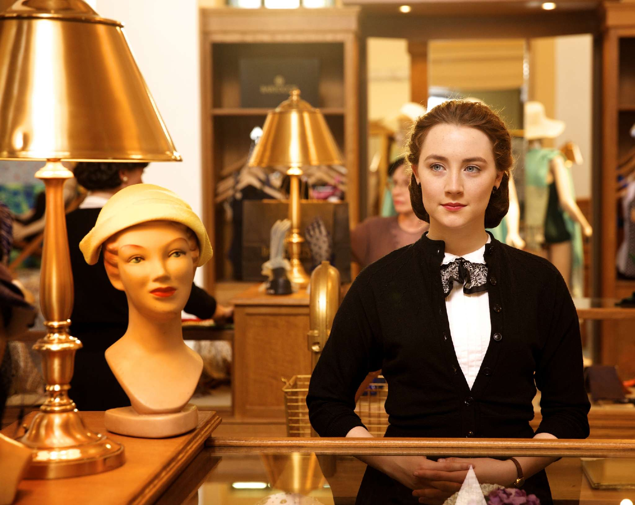 "Saoirse Ronan stars in ""Brooklyn"" as an Irish immigrant girl who grows into womanhood."