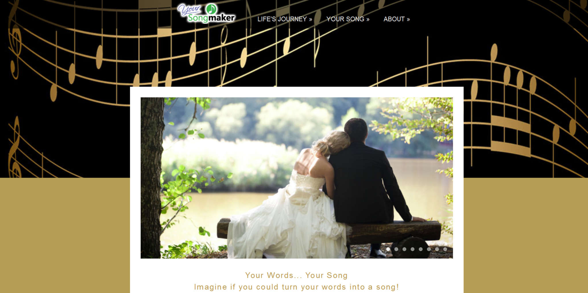 Website of Songmaker Productions. The company has a pool of 45 composers
